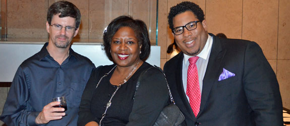 Houston's journalists of color at Asia Society Texas Center for holiday mixer